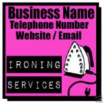 IRONING CLEANING SERVICES MAGNETIC SIGN CAR VAN 1 PAIR